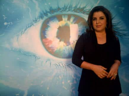 Farah Khan at the 'Bigg Boss 6' house. The choreographer turned director  posted this pic on Twitter.
