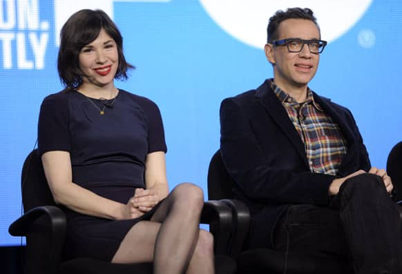 Carrie Brownstein and Fred Armisen, co-creators, co-writers and co-stars of the series