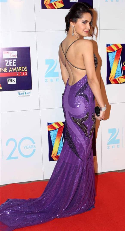 Shazahn Padamsee chose a Jatin Verma gown for the event.