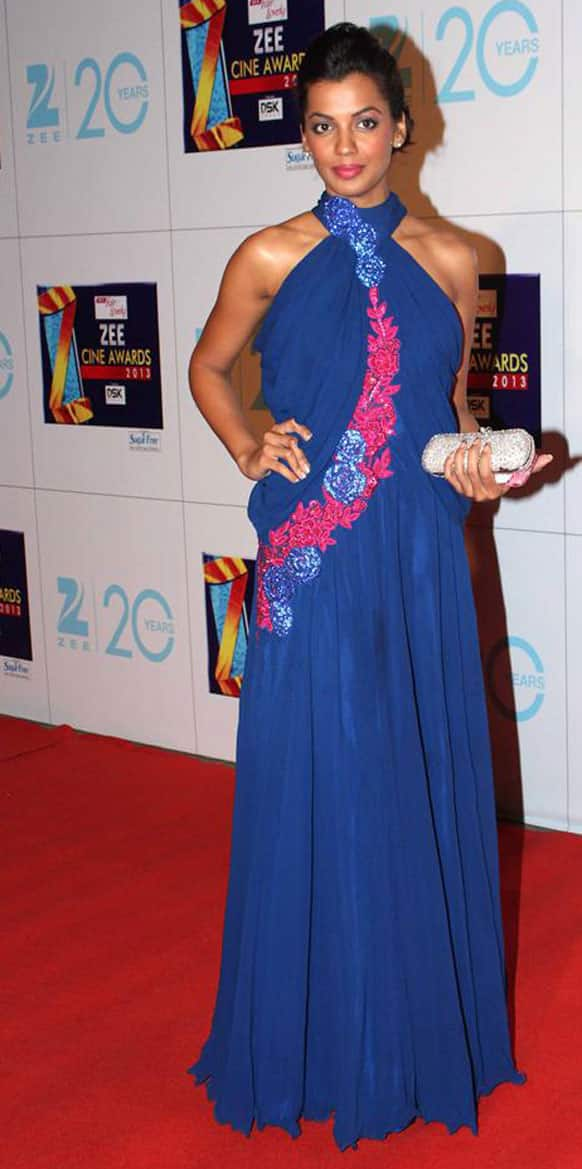 Mugdha Godse's blue attire was well-received on the Red Carpet.