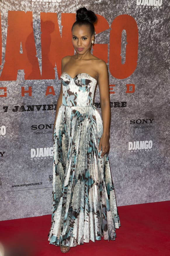 US actress Kerry Washington arrives for the premiere of the movie