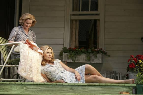 This undated theater image released by Boneau/Bryan-Brown shows Mare Winningham, left, and Maggie Grace from a production of the Roundabout Theatre Company's