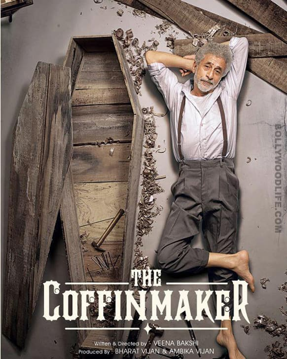 A first look poster of 'The Coffin Maker' starring real life couple Naseeruddin Shah and Ratna Pathak Shah. Needless to say, the poster looks offbeat and unique.