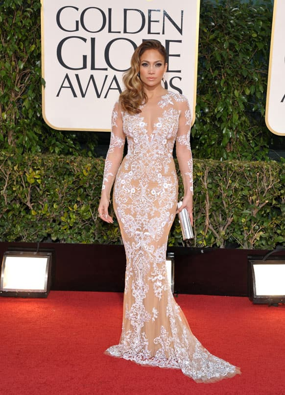 Actress/singer Jennifer Lopez arrives at the 70th Annual Golden Globe Awards at the Beverly Hilton Hotel.