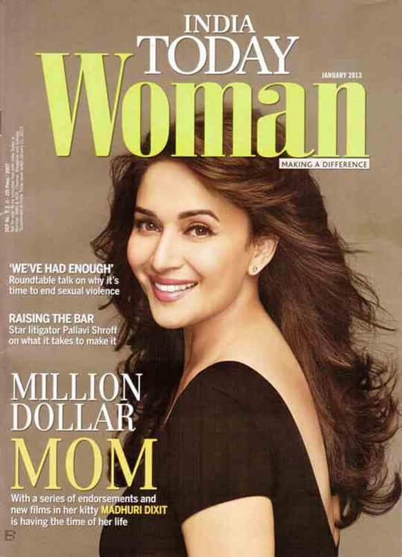 Madhuri Dixit graces the cover of the January 2013 issue of the India Today Woman magazine.