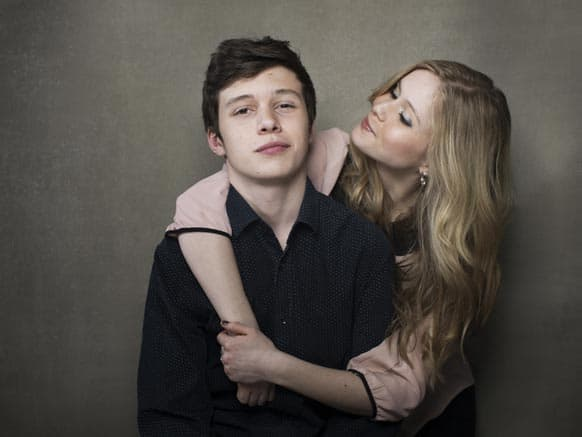 Nick Robinson, left, and Erin Moriarty from the film