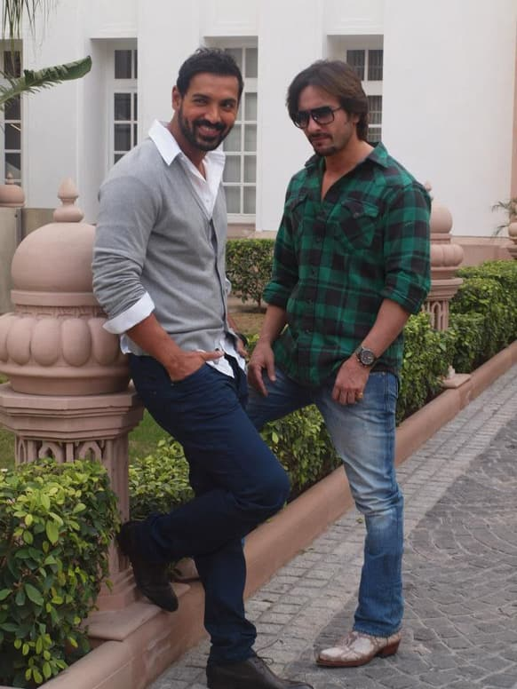 John Abraham and Saif Ali Khan were in Delhi for the promotions of their upcoming film 'Race 2'. The film releases January 25.