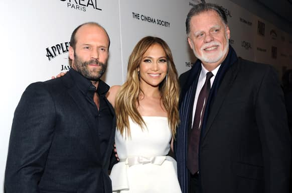 From left, actor Jason Statham, actress Jennifer Lopez and director Taylor Hackford attend special screening of