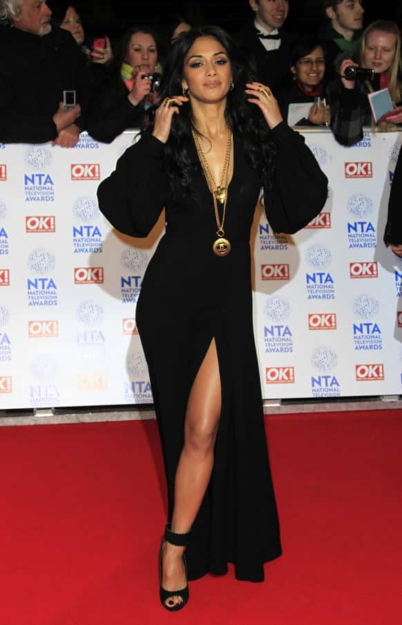 Nicole Scherzinger seen at the National Television Awards at the o2 Arena in London.