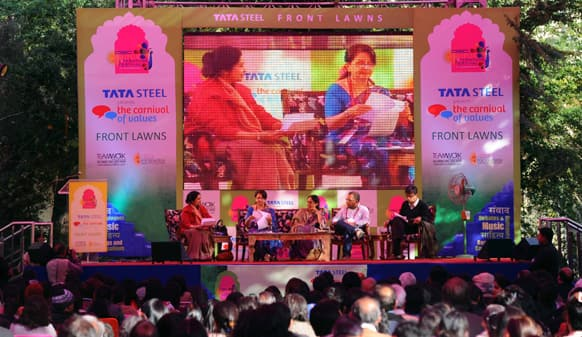 National Film Award winner Sharmila Tagore speaks on the opening day of the Jaipur Literature Festival 2013.