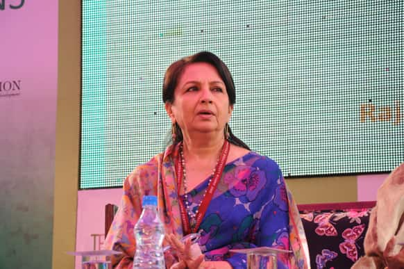 Sharmila Tagore made he presence felt at the one of the year's most awaited events.