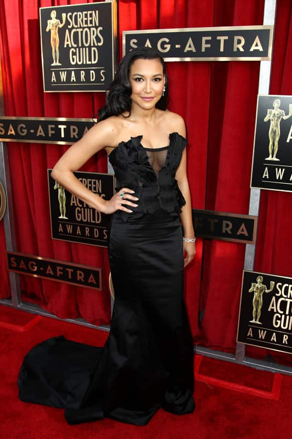 Actress Naya Rivera arrives at the 19th Annual Screen Actors Guild Awards at the Shrine Auditorium.