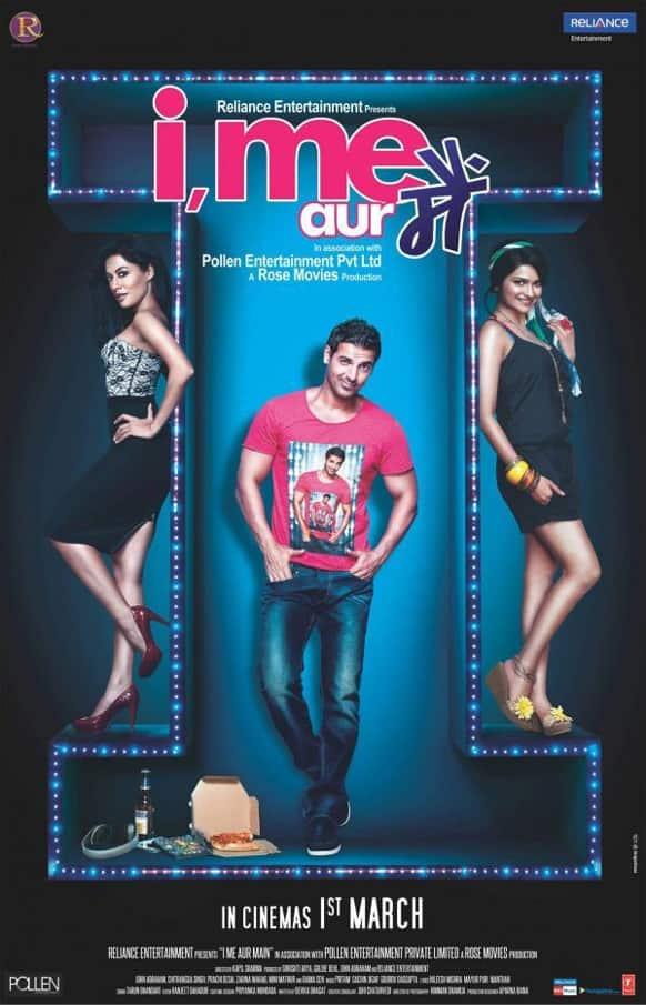 Poster of John Abraham, Chitrangada Singh and Prachi Desai starrer 'I, Me aur Main'.