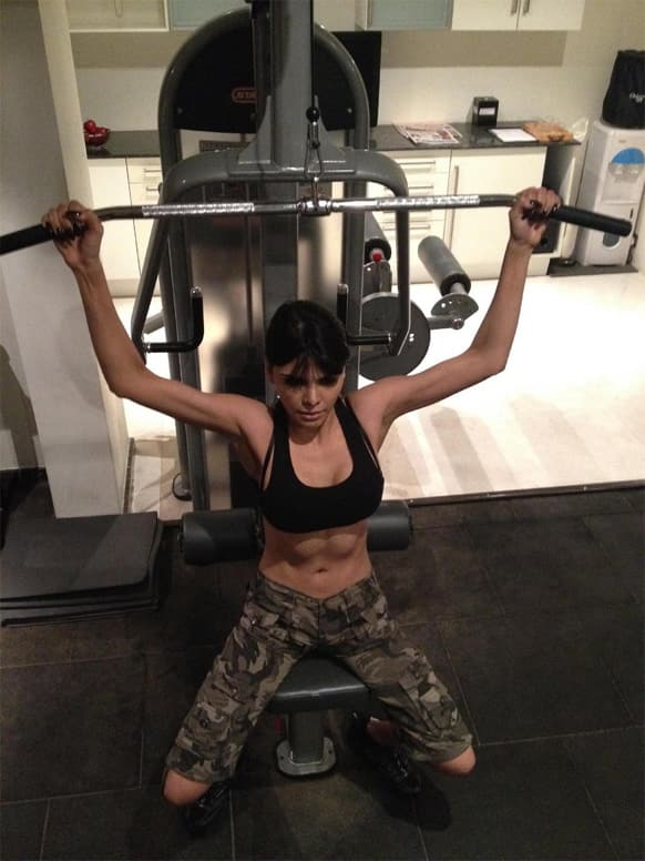 Sherlyn Chopra is making sure that her body looks well toned in her film 'Kamasutra 3D'.