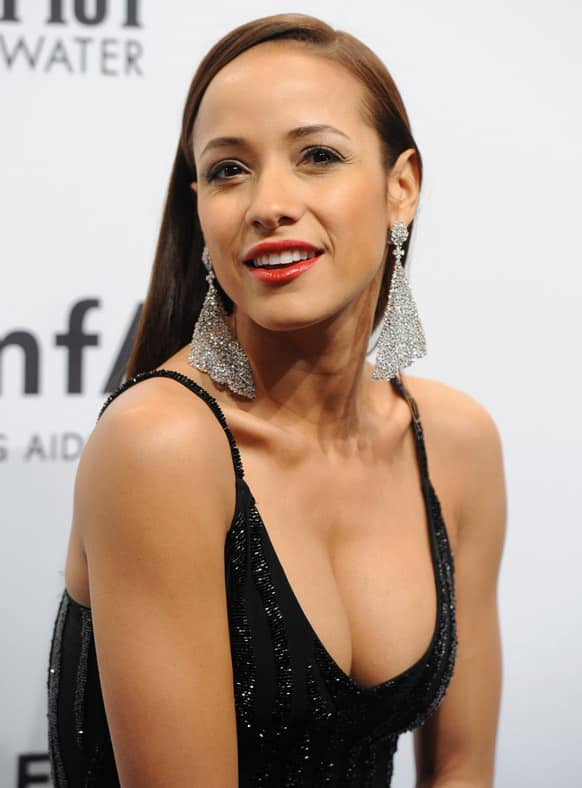Actress Dania Ramirez attends amfAR's New York gala at Cipriani Wall Street in New York.