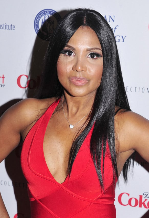 Toni Braxton attends the Red Dress Collection 2013 Fashion Show in New York.
