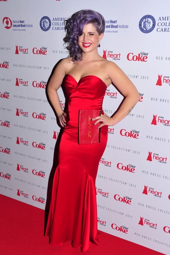 Kelly Osbourne attends the Red Dress Collection 2013 Fashion Show in New York.