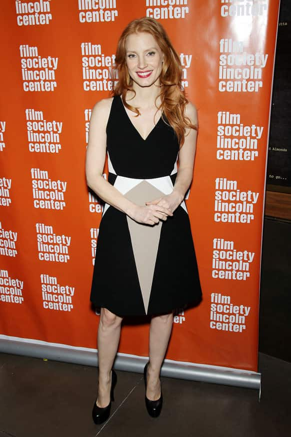 This image released by Starpix shows actress Jessica Chastain at the Film Society of Lincoln Center Presents