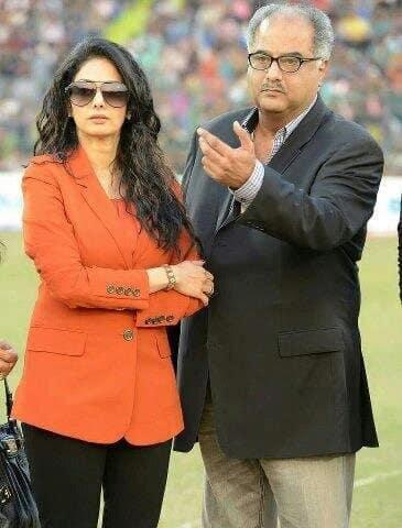 Sridevi with husband Boney Kapoor. Image courtesy: @SrideviBKapoor
