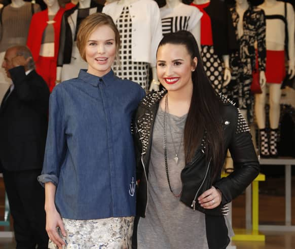 Kate Bosworth and Demi Lovato attend Sir Philip Green's British Street Party to celebrate the Opening of TOPSHOP and TOPMAN at The Grove, in Los Angeles.