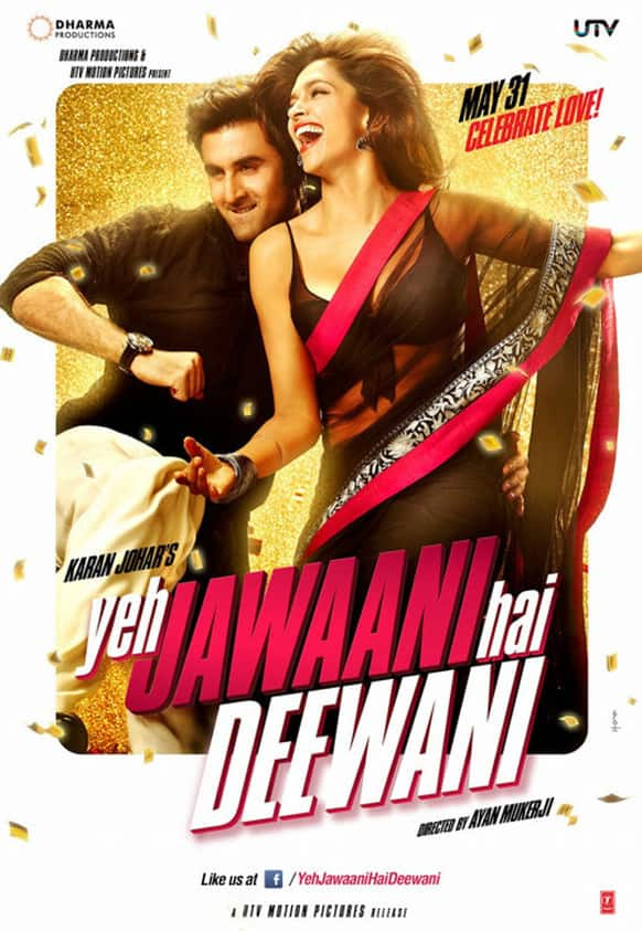 The first look of the Ranbir Kapoo, Deepika Padukone-starrer 'Yeh Jawaani Hai Deewani' was released recently.