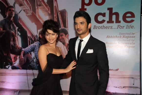 Sushant Singh Rajput and Ankita Lokhande at the premiere of 'Kai Po Che'. Rajput's debut film hits the theatres February 22.