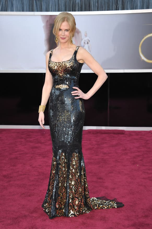 Actress Nicole Kidman arrives at the Oscars at the Dolby Theatre.