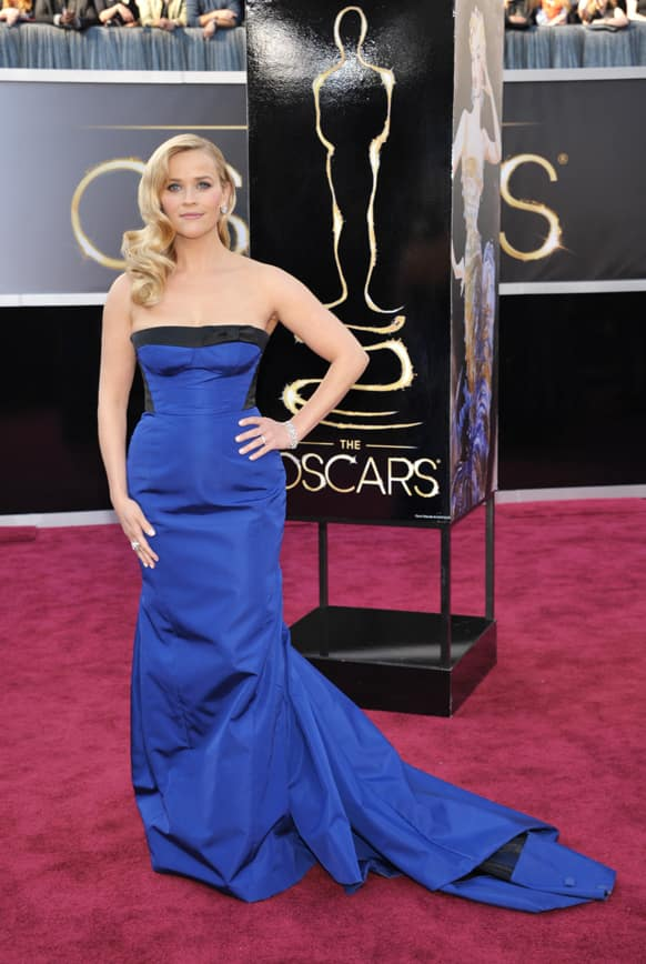 Reese Witherspoon arrives at the 85th Academy Awards at the Dolby Theatre.