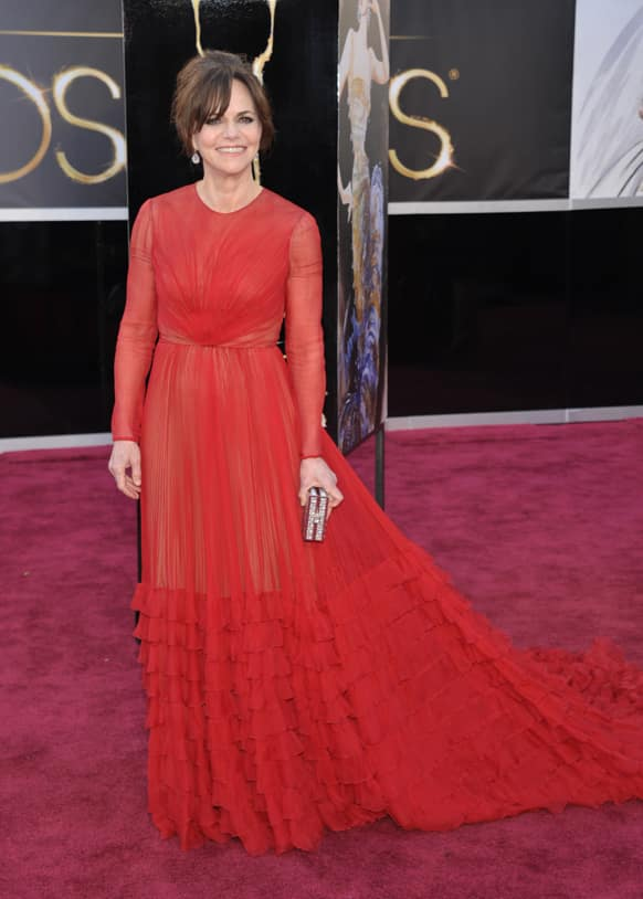 Actress Sally Field arrives at the Oscars at the Dolby Theatre.
