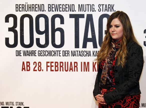 Austrian Natascha Kampusch poses for photographers before the premiere of the film