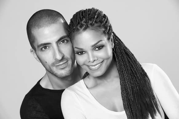 Janet Jackson with Wissam Al Mana, in a portrait taken by photographer, Marco Glaviano.