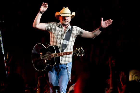Jason Aldean performs in concert at Madison Square Garden in New York.