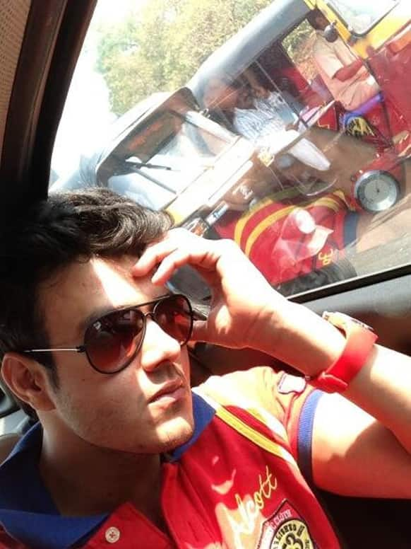 TV actor Aniruddh Dave posted this pic of his on Twitter.
