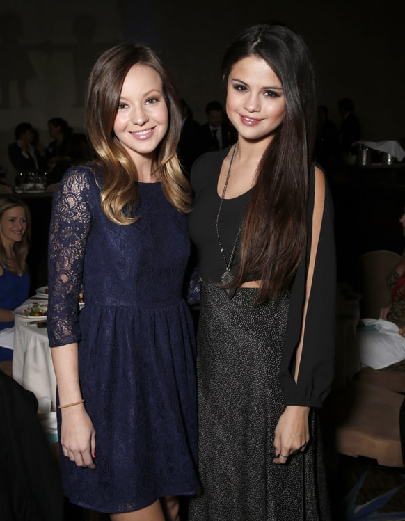 Samantha Droke and Selena Gomez attend The Alliance for Children's Rights 21st Annual Dinner at The Beverly Hilton Hotel, in Beverly Hills, California.