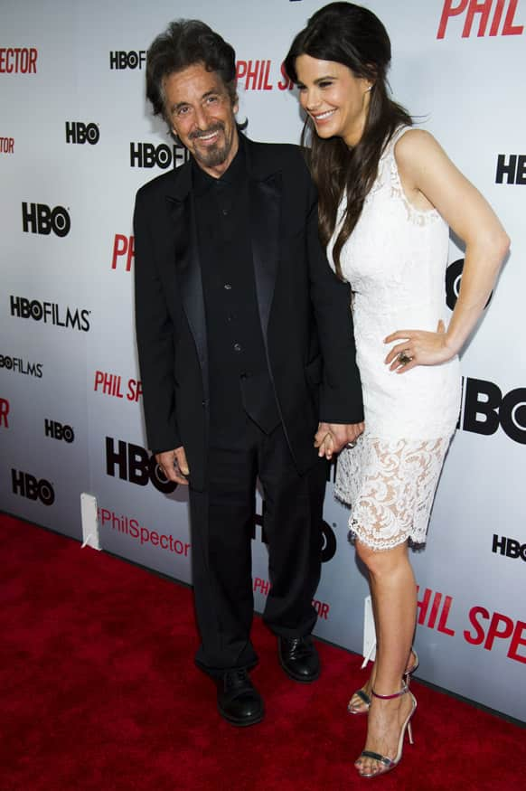 Al Pacino and Lucila Sola attend the premiere of HBO's