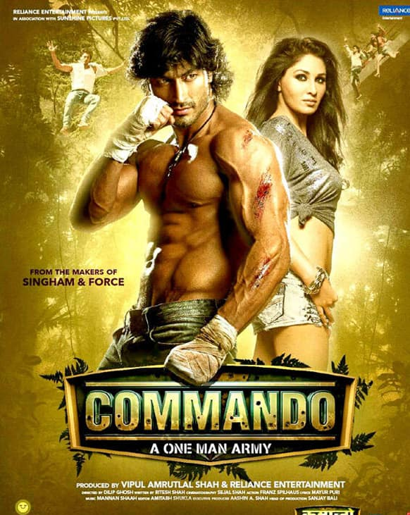The first look of 'Commando'. The film stars Vidyut Jamwal, who forayed into the Hindi film industry with 'Force', and Pooja Chopra in pivotal roles.