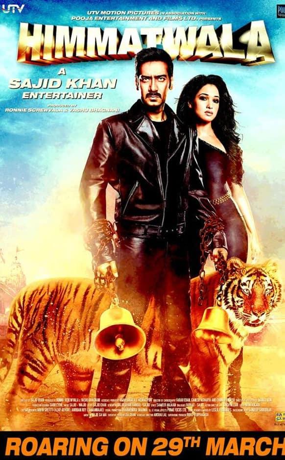 Brand new poster of Sajid Khan's 'Himmatwala' starring Ajay Devgn and Tamannah Bhatia.