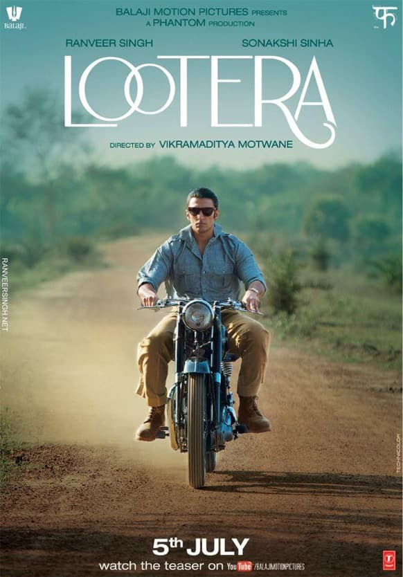 Ranveer Singh looks uber-cool in this poster of 'Lootera'. The period film stars Sonakshi Sinha across the actor.