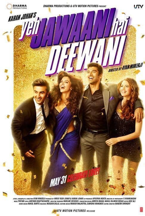Brand new poster of Ranbir Kapoor and Deepika Padukone starrer 'Yeh Jawaani Hai Deewani'.