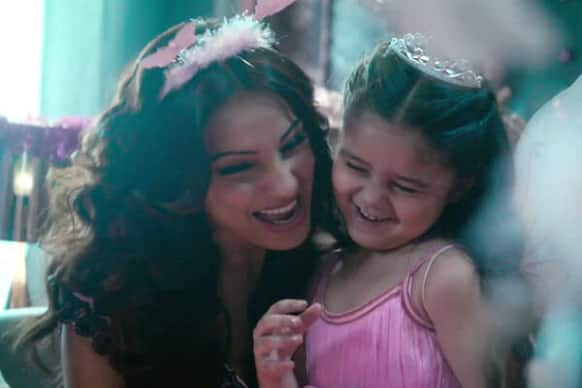 Bipasha Basu looks like a doting mom in this still from the supernatural thriller 'Aatma'!