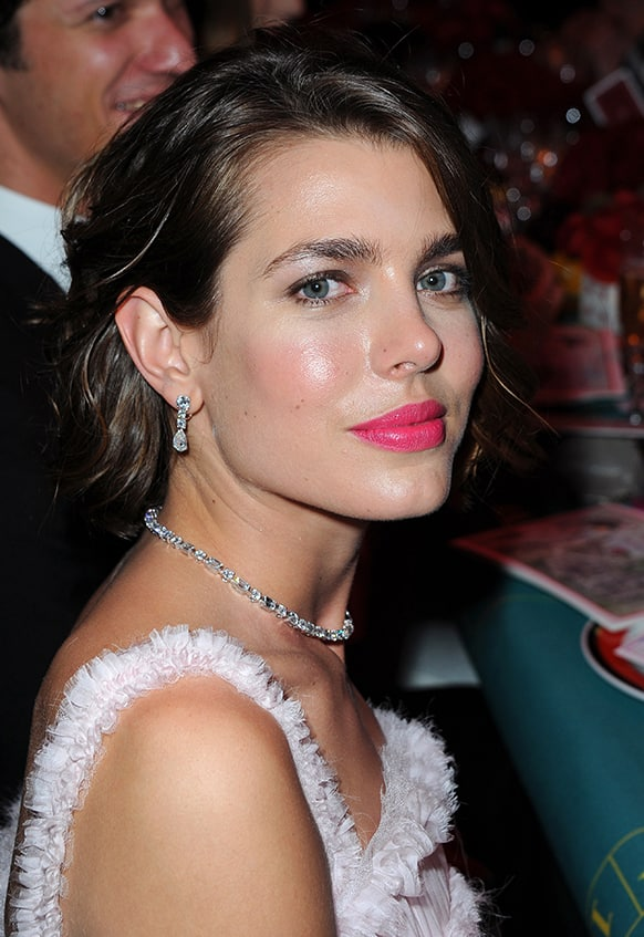 Princess Caroline of Hanover's daughter, Charlotte Casiraghi attends the Rose Ball in Monte Carlo.