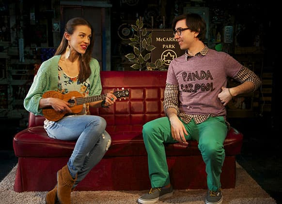 Katherine Cozumel, left, and Max Crumm during a performance of