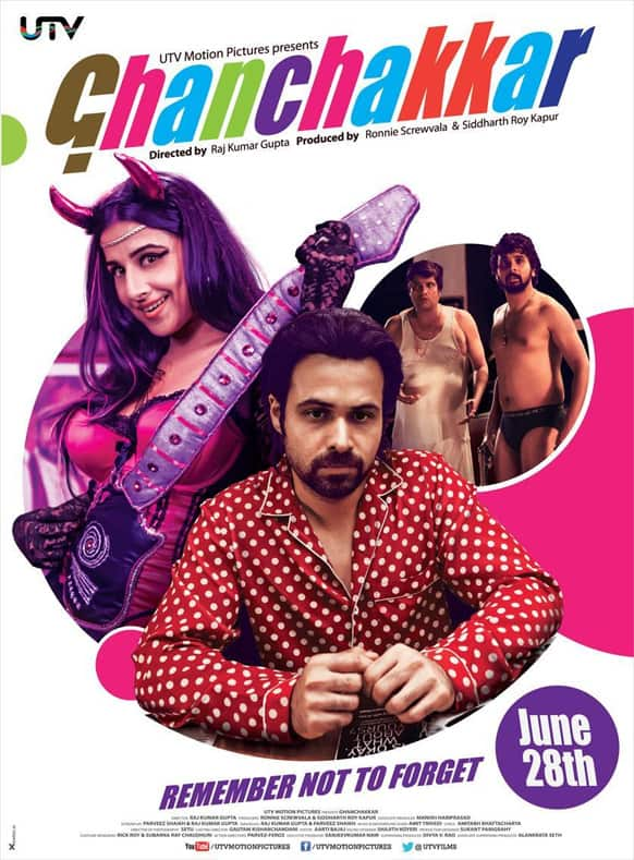 This is the first official poster of Vidya Balan and Emraan Hashmi starrer 'Ghanchakkar'. The film is releasing on June 28, 2013.
