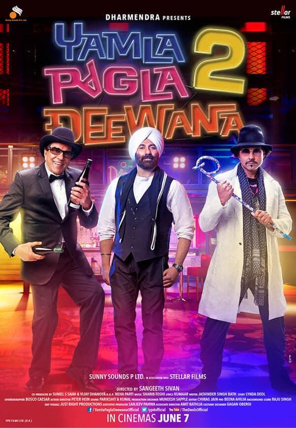 Brand new poster of 'Yamla Pagla Deewana 2'.