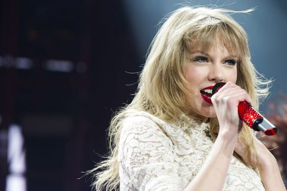 Taylor Swift performs in concert at the Prudential Center, in Newark, N.J.