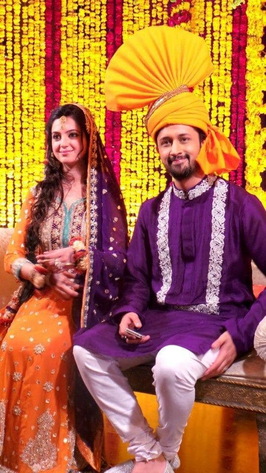 The news of the wedding festivities was revealed on Atif Aslam's Facebook fan page by the singer.