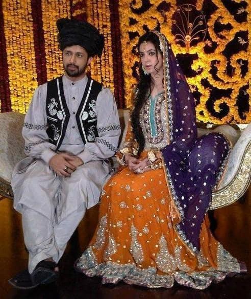 Sara and Atif at their mehendi ceremony.