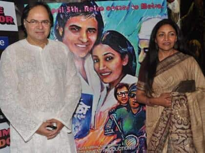 Farooq Shaikh and Deepti Naval at the special screening of the 1981 hit 'Chashme Buddoor'.