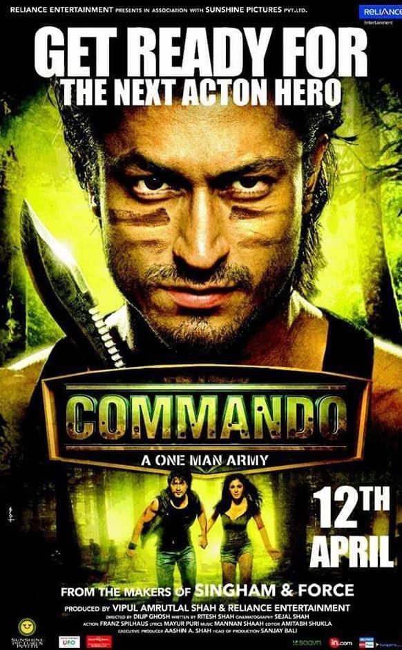 Brand new poster of Vidyut Jamwal's 'Commando'.