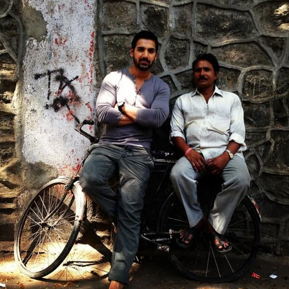 @The_JohnAbraham tweeted this picture with the caption 'Real People'.